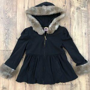 Juicy Couture Faux Fur zip up jacket hoodie